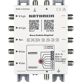 كاثرين EXD 2532 سبت كابل واحد مولتيسويتش المدخلات (multiswitches): 5 (الأرضية سبت/1 4) رقم من المشاركين: 32