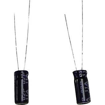مكثف كهربائي الرصاص شعاعي 5 ملم 470 μF 16 V DC 20 % (Ø x H) 10 ملم × 17 ملم 1 pc (ق)