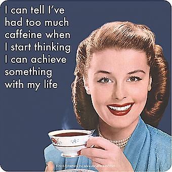 Puedo decir que he tenido demasiada cafeína cuando... Bebidas divertidas Mat / montaña rusa
