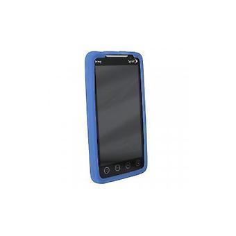 Sprint - silicone manga caso com abertura Kickstand para HTC EVO 4G - azul