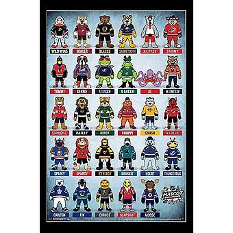 NHL - mascottes Poster Print