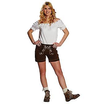 Skinn bukse kvinners lys brun sexy Oktoberfest bukser Bayern kostyme for kvinner