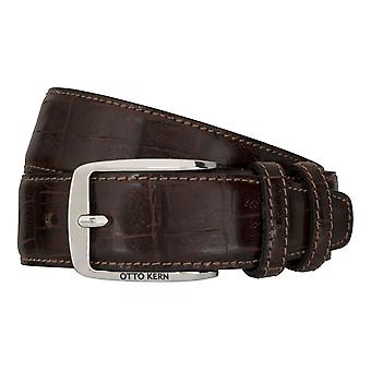 OTTO KERN belts men's belts leather belt Brown 7484
