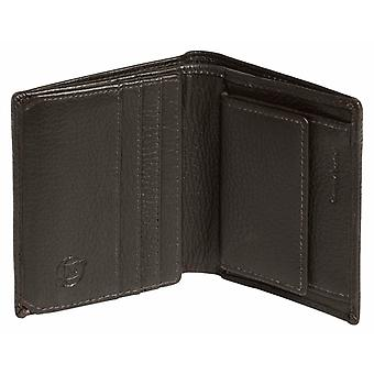 Simon Carter Coin Credit Card Bifold Wallet - Brown