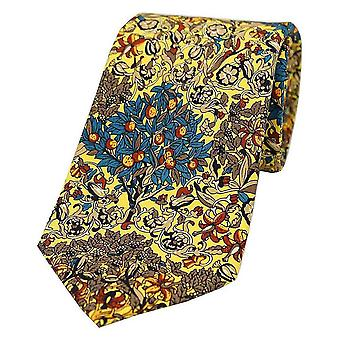 Posh and Dandy Trees and Leaves Luxury Silk Tie - Yellow