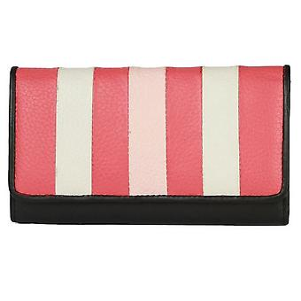 Eastern Counties Leather Womens/Ladies Tracey Purse With Colour Stripe Panel