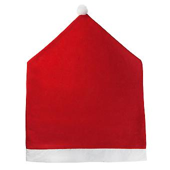 TRIXES Giant Father Christmas Santa Claus Hat Themed Chair Backrest Cover