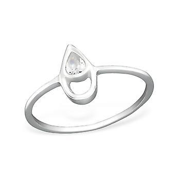 Teardrop - 925 Sterling Silver Cubic Zirconia Rings - W27258x