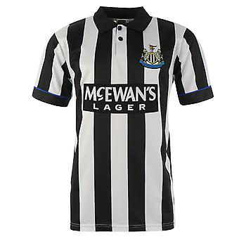 Score Draw Mens Newcastle United Football Club 1995 Home Jersey Retro Shirt