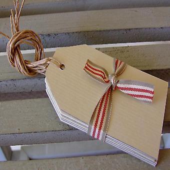 À l'est de l'Inde étiquettes à bagages crème pour Giftwrapping