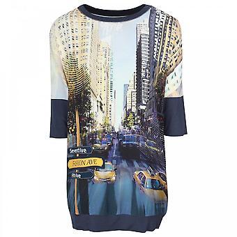 Tuzzi New York Chic Print 3/4 Sleeve Dress