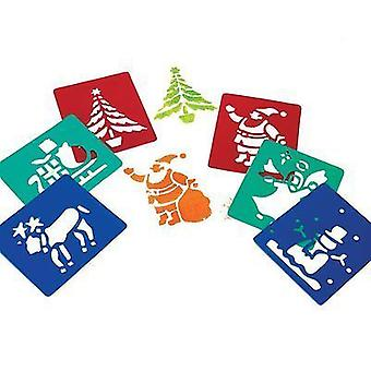 Major Brushes Washable Christmas Stencil Set of 6