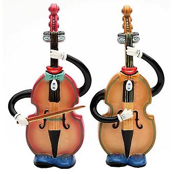 Musical Muse Upright Double Bass Salt and Pepper Shakers
