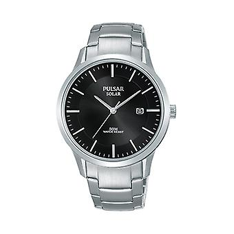 Pulsar Silver Silver Stainless Steel Strap Unisex Watch PX3161X1 40mm