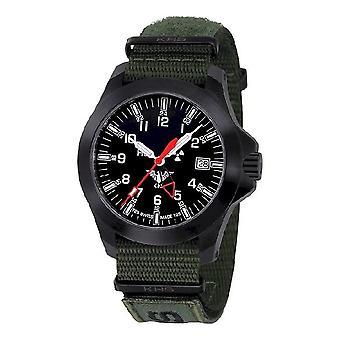 KHS zegarki męskie zegarek czarny plutonu GMT LDR KHS. BPGLDR. NXTO1