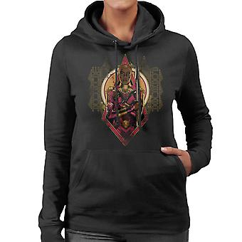 Marvel Black Panther Okoye Wakanda Forever Women's Hooded Sweatshirt