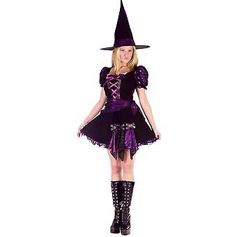 Kostium dla dorosłych fioletowy czarownica