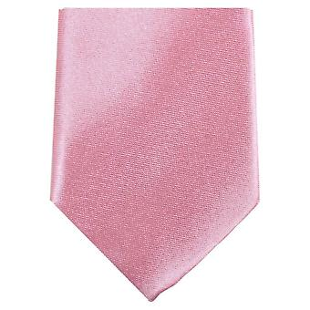Knightsbridge Neckwear Slim Polyester Tie - Light Pink