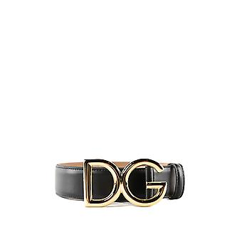 Dolce E Gabbana Be1324az8078s070 Women's Black Leather Belt