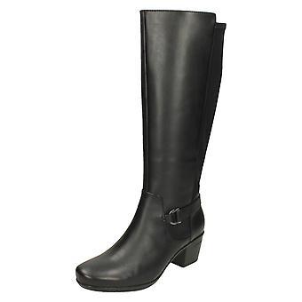 Clarks damskie obcasie kolana wysokie buty Emslie marca