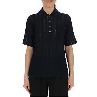 Acne Studios A60071midnightblue Women's Black Cotton Polo Shirt