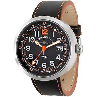Zeno-watch mens watch Rondo (dual time) B554Q-GMT-a15