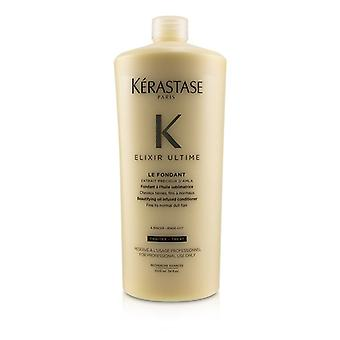 Kerastase Elixir Ultime Le Fondant BeautIfying Oil Infused Conditioner (fino a cabello normal aburrido) - 1000ml/34oz