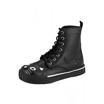 TUK Shoes Black Kitty Sneaker Boot