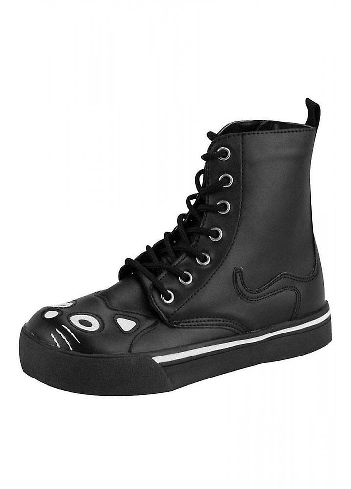 TUK Buty Czarny Kitty Sneaker Boot LXTVq