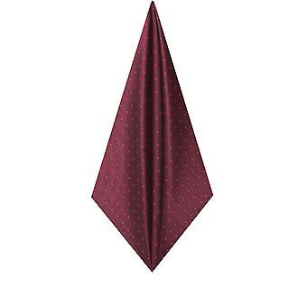 Dobell Mens Burgundy with Large Spots Handkerchief