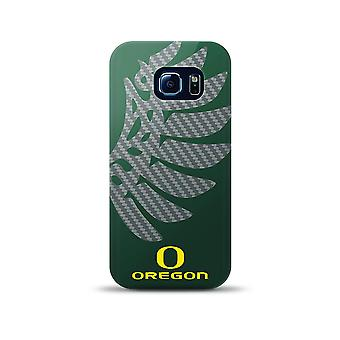 Mizco NCAA oversized SnapBack TPU Case voor Galaxy S6 Edge (Oregon Ducks)