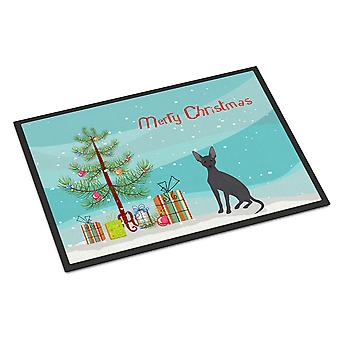 Peruvian Hairless Dog Christmas Tree Indoor or Outdoor Mat 24x36