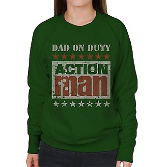 Action Man Dad On Duty Women's Sweatshirt
