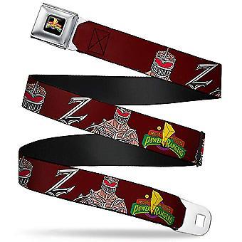 Seatbelt Belt - Power Rangers - V.40 Adj 24-38' Mesh New pra-wpr023