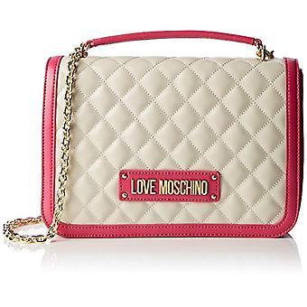 Kærlighed Moschino taske quiltet Nappa pu hånd kvinde pink (Fuxia) 6x19x28 cm (b x H x L)