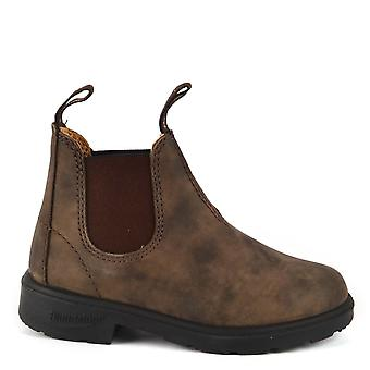 Blundstone Kids 565 Rustic Brown Premium Leather Boot