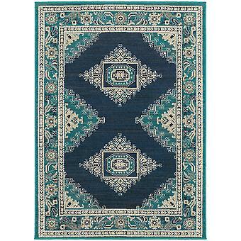 Highlands 6658a blue/ivory indoor area rug rectangle 7'10