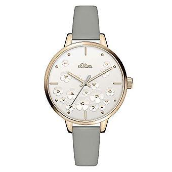 s. Oliver Quartz naisten analoginen kello SO-3840-LQ nahkavyö