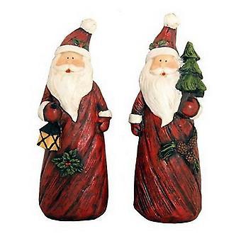 Set of Two Santa Figures