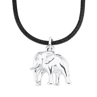 s.Oliver Jewel Kids and Teens Necklace Silver Nylon Elephant 2026059