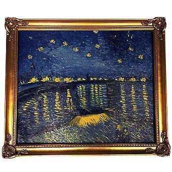 Efter Vincent van gogh, oljemålning  med guld ram