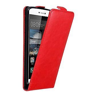 Cadorabo Hülle für Huawei P8 Case Cover - Handyhülle im Flip Design mit Magnetverschluss - Case Cover Schutzhülle Etui Tasche Book Klapp Style