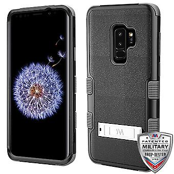 MYBAT Natural Black/Black TUFF Hybrid Phone Protector Cover  for Galaxy S9 Plus