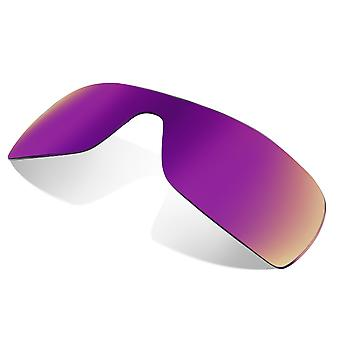 Replacement Lenses for Oakley Batwolf Sunglasses Purple Mirror Anti-Scratch Anti-Glare UV400 by SeekOptics
