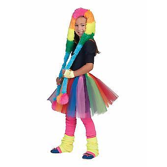 Petticoat Rainbow Kinderrock Mädchenrock Regenbogen bunt  Einheitsgröße für Karneval Fasching