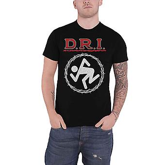 Dirty Rotten Imbeciles D.R.I. T Shirt Barbed Wire Band Logo Official Mens Black