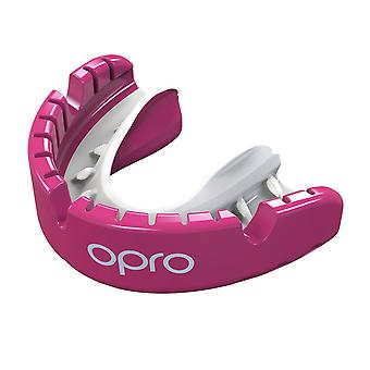 Opro Gold Klammern Gen 4 Mund Guard Pink/Pearl