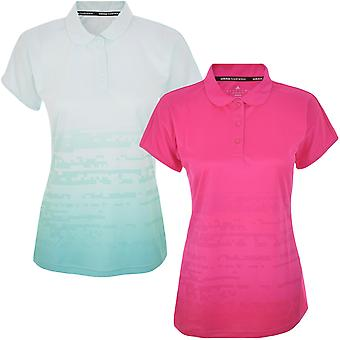 adidas Performance Womens Climacool Short Sleeve Badminton Sports Polo Shirt Top