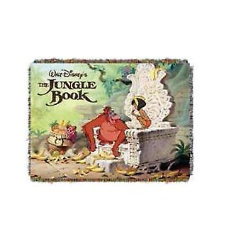 Tapestry Throw - Disney - Jungle Book King Louie Woven Blanket New 284319