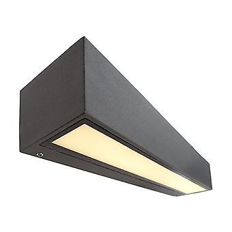 LED wandconstructie licht lineair II dubbel 18W 3000K L 250mm donker grijs aluminium